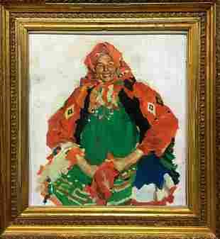Oil painting Peasant woman Shteyngarts Yuri Davidovich