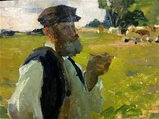 Oil painting Shepherd Yablokov Anatoly Ivanovich