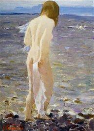 Oil painting Portrait of a girl Baskakov N.N.