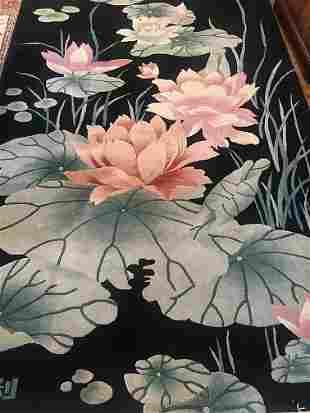 Chinese Rug 8-8x5-8 Circa 1990