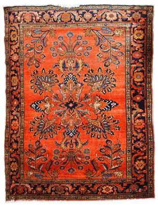 Handmade antique Persian Lilihan rug 5.2' x 7.5' (158cm
