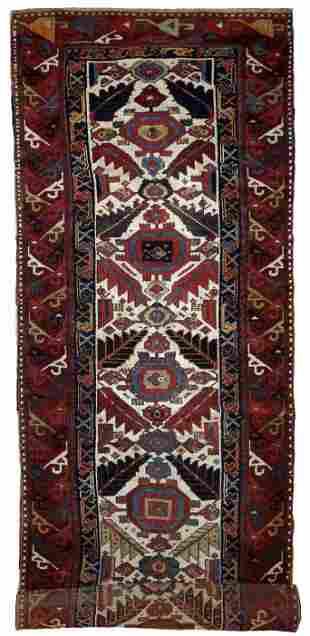 Handmade antique collectible Nothwest Persian runner 4'