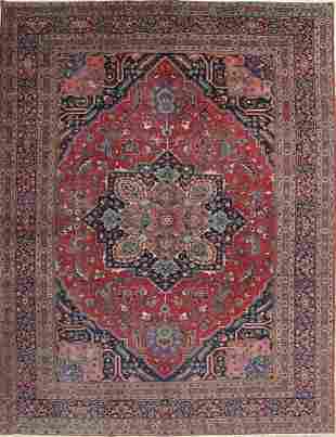 Antique Floral Heriz Persian Area Rug 10x14