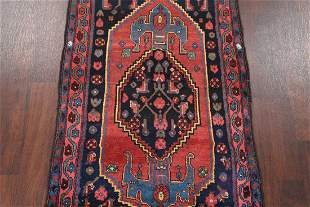 Antique Geometric Malayer Hamadan Persian Area Rug 4x6