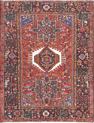Geometric 5x6 Gharajeh Persian Area Rug