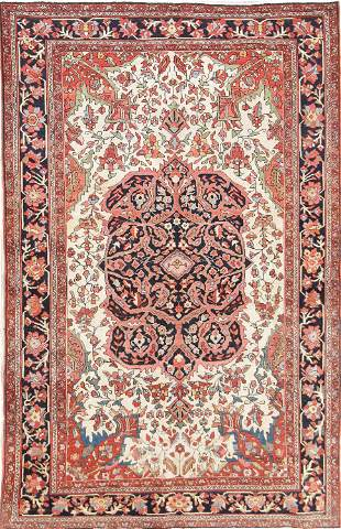 Floral 4x7 Sarouk Farahan Persian Area Rug 100%