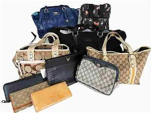 """VALENTINO, MIU MIU, COACH Lot of bags from luxury"