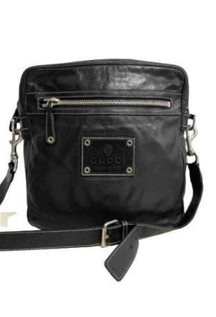 """""""GUCCI"""" Shoulder bag in black leather"""