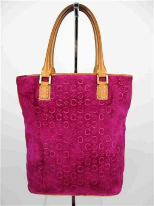 """CELINE"" Purple suede tote bag"