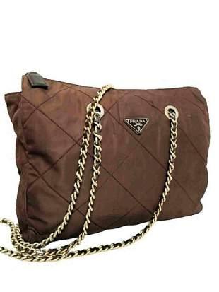 """PRADA"" Shoulder bag in brown canvas"