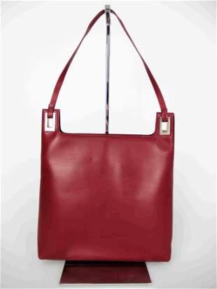 """""""GUCCI"""" Shoulder bag in burgundy leather"""