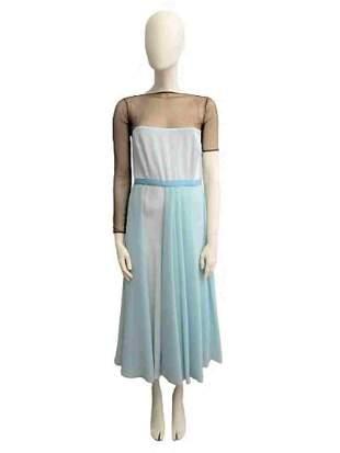 """""""VIONNET"""" Light blue silk dress size XS / S"""