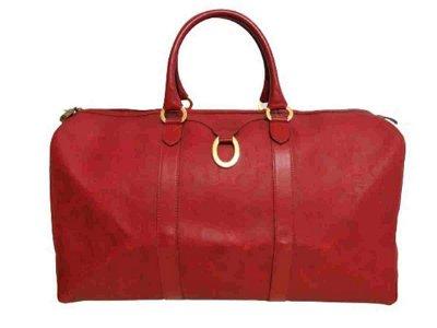 """CHRISTIAN DIOR"" Vintage travel bag in red coated"