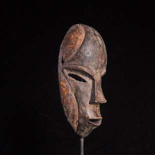 African tribe handmade wood carving art mask (177)