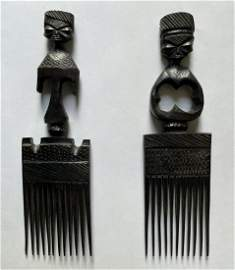 Pair of African Combs