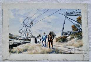 Electrical Workers, by Boy Malefi (untitled)