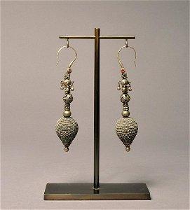 Nuristan Silver earrings, Mounted