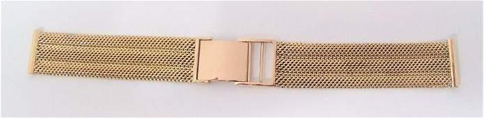 SOLID 14k Rose GOLD Mesh Watch Bracelet to fit 17.5 mm