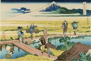 HOKUSAI, Katsushika (1770-1849) Mt. Fuji seen from