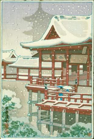 Tsuchiya Koitsu - Kiyomizu Temple in Snow