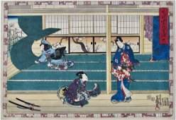 Kunisada: Genji Chapter 38, Suzumushi