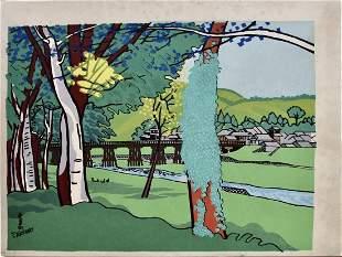 Tokuriki: Park with Bridge