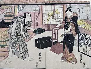 Toyokuni I: Mitsugorô III and Onoe Baiko III