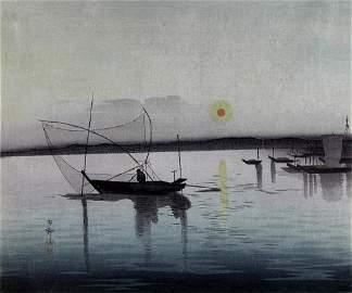 KOSON, Ohara Fishing boats at sunset