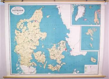 Richters Skolerkort Over Danmark (Denmark)
