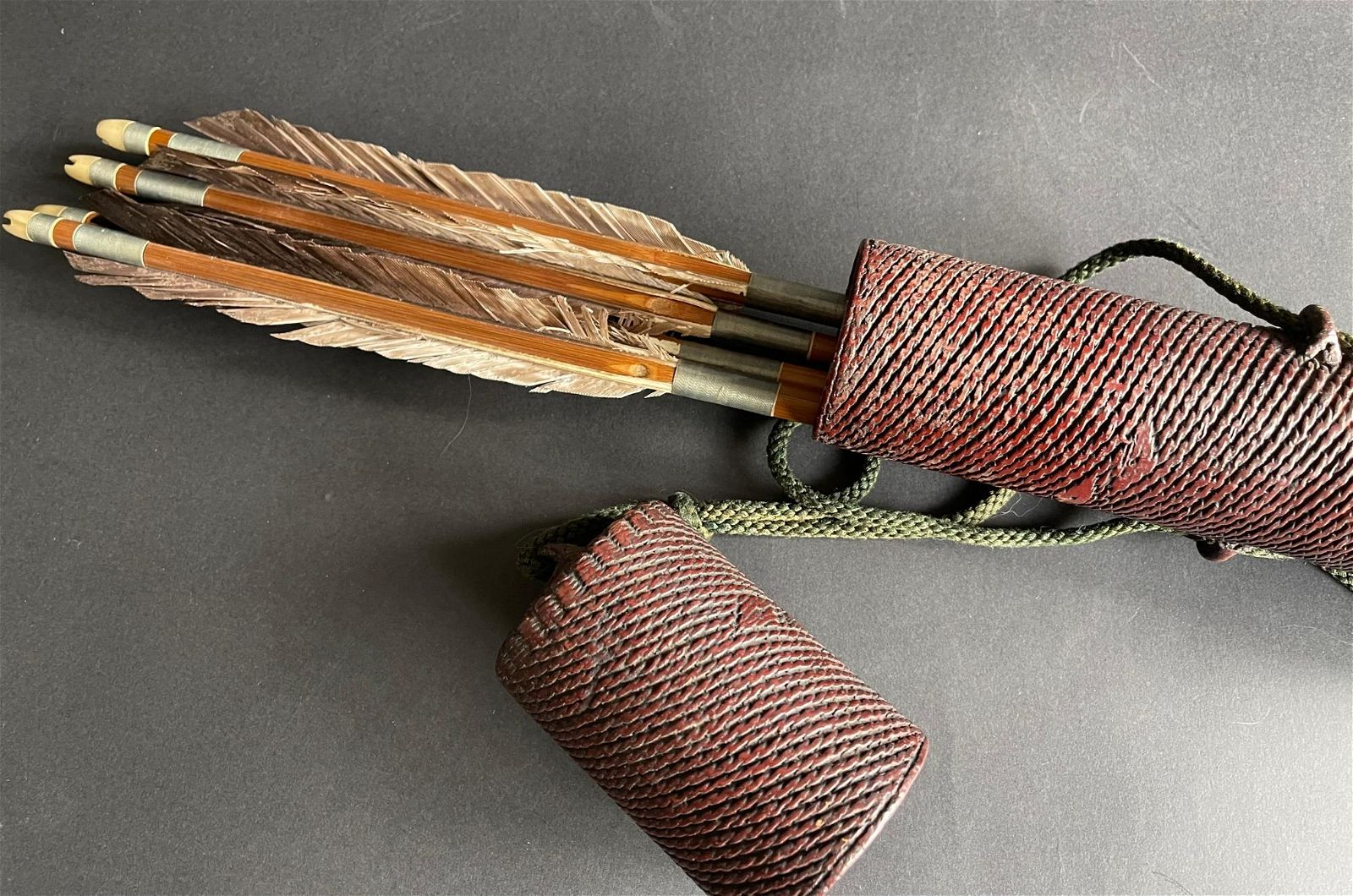 Japanese Samurai quiver with arrows End of Edo period.