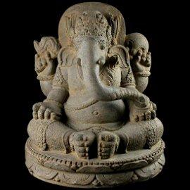 Important Massive Vulcanic figure of Ganesha, ca.