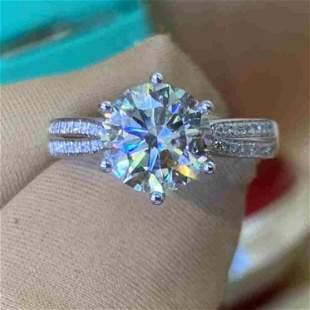 18K White Gold 2.19ct H Diamond Ring