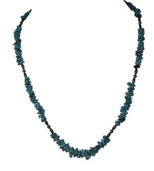 Sterling Silver Bead and Turquoise Nugget Bead Necklace