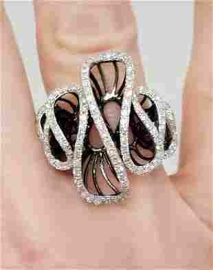 3/4ct DIAMOND WAVY DIAMOND RING in 14K WHITE GOLD