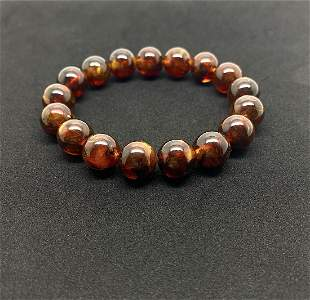 Outstanding Vintage Amber Bracelet made from Round