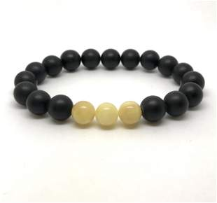 Staggering Amber Bracelet made from Round Amber beads