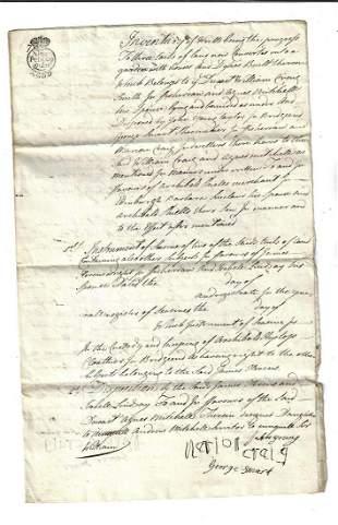 1780 Manuscript Conveyances Fisherrow Scotland
