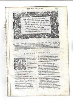 1603 Leaves from Orlando Furioso