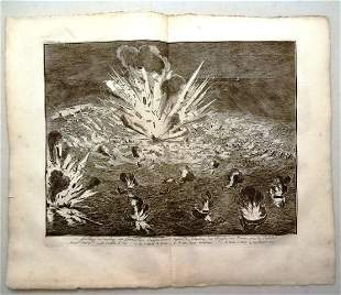 1730 Engraving of a Naval battle