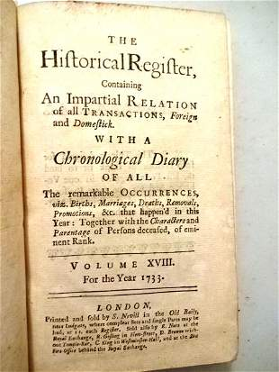 1733 Leather Historical Register Philippines Trade