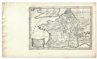 1747 Map of Ancient France Gallia Vetus