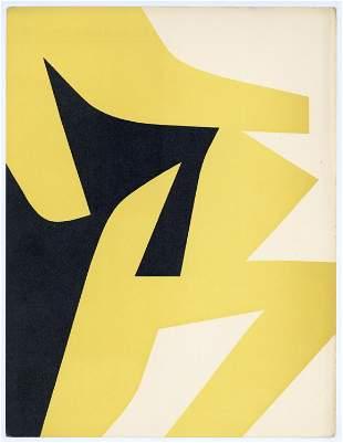 Jean Dewasne lithograph, 1951