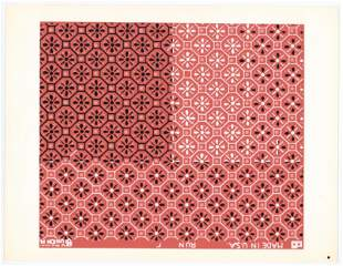 Josef Albers silkscreen   Interaction of Color, 1963