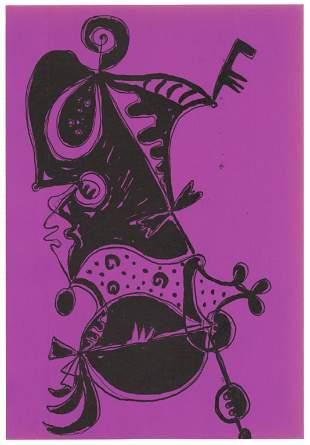 Gillo Dorfles original lithograph   Groupe Espace