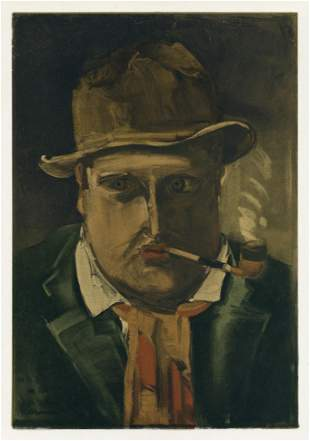 """Maurice de Vlaminck lithograph """"Self Portrait"""""""