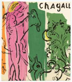 """Marc Chagall """"Paysage aux Isbas"""" original lithograph"""