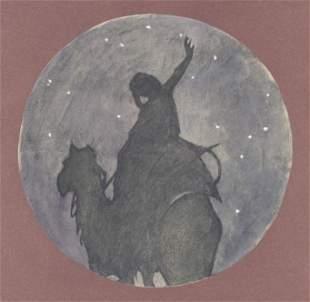 """Franz Marc pochoir """"Bedouin Song"""" 1917"""