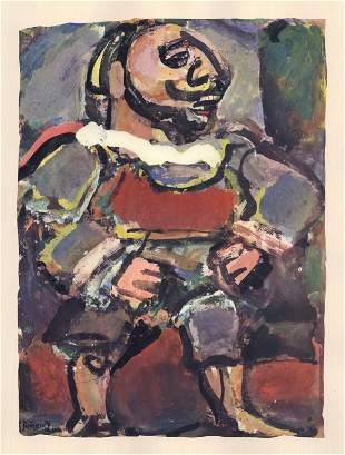 "Georges Rouault lithograph ""Mangetout"""