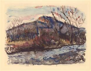 "John Marin lithograph ""Ramapo River"""