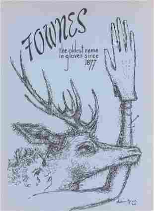 Chaim Gross original lithograph